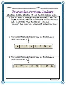 Equivalent Fractions Activities and Game