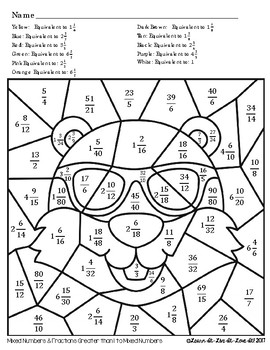 Equivalent Fractions Groundhog's Day Coloring Page
