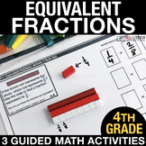 Equivalent Fractions - Guided Math Activities and Exit Tic