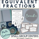Equivalent Fractions Activities Centers Bundle