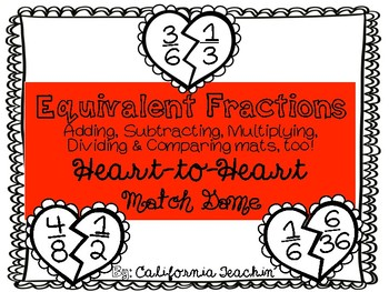 Fraction Heart Pieces Matching Activity