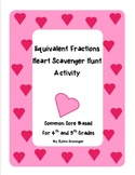 Equivalent Fractions Heart Scavenger Hunt for 4th and 5th Grades