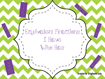 Equivalent Fractions I Have Who Has