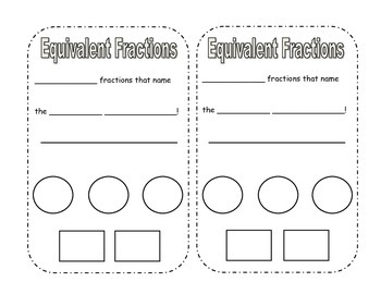 Equivalent Fractions Interactive Journal page