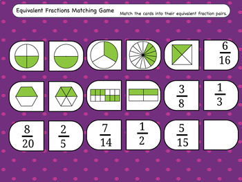Equivalent Fractions – Interactive Worksheets and Activities with Google Slides