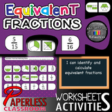 Equivalent Fractions – Interactive Worksheets and Activiti