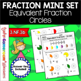 Fraction Mini Set: Equivalent Fractions Circles