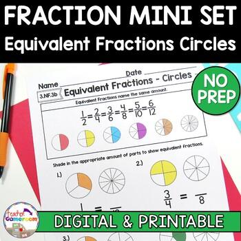 Fraction Mini Set: Equivalent Fractions Circles