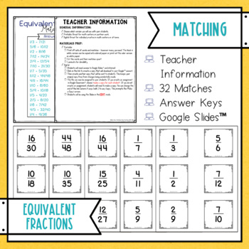 Equivalent Fractions Match