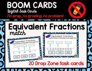 Equivalent Fractions Match Boom Cards Digital Task Cards
