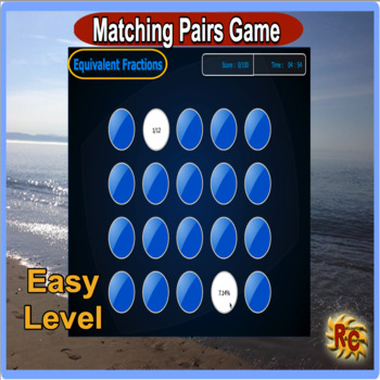 Equivalent Fractions Match Game (interactive) UPDATED