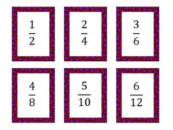 Equivalent Fractions Match Up