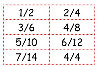 Equivalent Fractions Matching