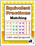 Fraction Activities - Equivalent Fractions Matching