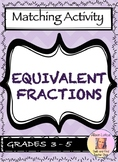 Equivalent Fractions Matching Activity - FREE!