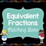 Equivalent Fractions Matching Game