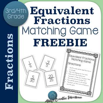 Equivalent Fractions Game FREE