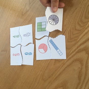 Equivalent Fractions Matching Puzzle