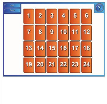 Equivalent Fractions Matching Smarboard Game