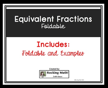 Equivalent Fractions Math Foldables