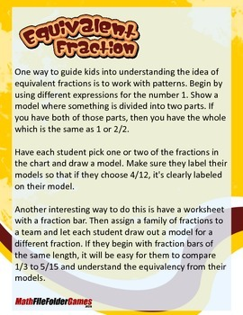 Equivalent Fractions {Math Game}