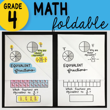 Math Doodle - Equivalent Fractions ~ INB Foldable Notes ~