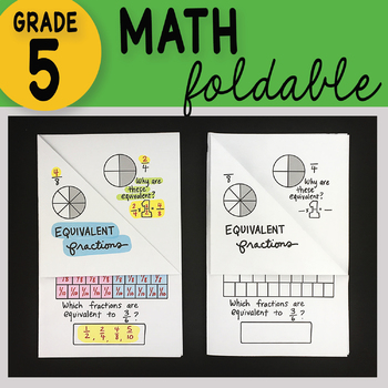 Math Doodle - Equivalent Fractions Math Interactive ~ Foldable Notes ~
