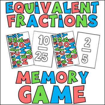 Equivalent Fractions Memory Game!