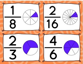 Equivalent Fractions Memory Game