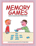 Equivalent Fractions Memory Games