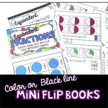 Equivalent Fractions Flipbook