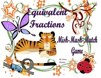 Equivalent Fractions Mish-Mash-Matching Game