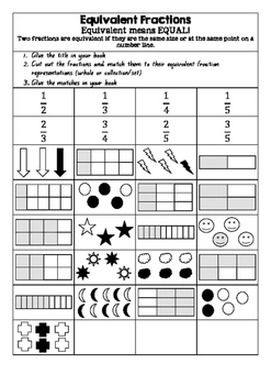 Equivalent Fractions - Mix and Match