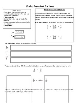 Equivalent Fractions Notes and Practice