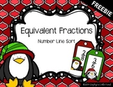 FREEBIE Equivalent Fractions: Number Line Sort {Math Center}