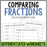 Comparing Fractions On a Number Line Worksheets | Distance