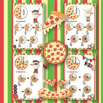 Equivalent Fractions PIZZA PARTY Posters