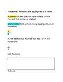 Equivalent Fractions Packet