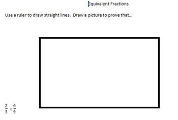 Equivalent Fractions: Picture Proofs