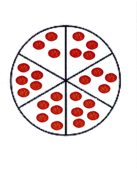 Equivalent Fractions Pizza Portion Puzzle