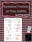 Equivalent Fractions with Pizza Activity Worksheet