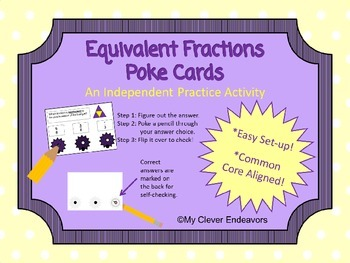 Equivalent Fractions Poke Cards