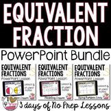Equivalent Fractions PowerPoint Lesson BUNDLE