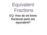 Equivalent Fractions (PowerPoint Presentation w/ Practice Centers)