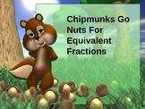 Equivalent Fractions Powerpoint (Chipmunk Theme)