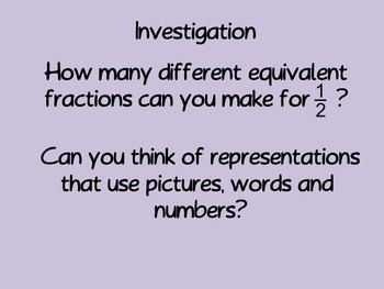 Equivalent Fractions Powerpoint Presentation