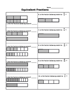 Equivalent Fractions Practice