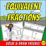 Equivalent Fractions Practice Color by Answer