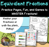 Equivalent Fractions Practice: Review Sheets, Games, and Riddles