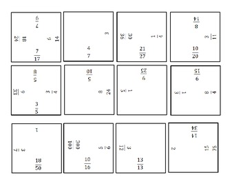 Equivalent Fractions Puzzle